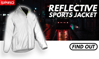 Spiro reflective sports jacket at der-rollenshop.de