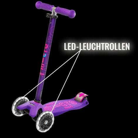 Micro Scooter Rolle LED Leuchtrollen-Set
