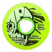 MPC Inlineskate Rolle Freestyle Wheels Yellow X-Firm 76mm