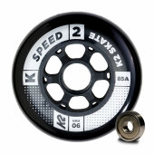 K2 Inliner Rolle Speed Wheel 90mm ILQ 9 (8er-Pack)