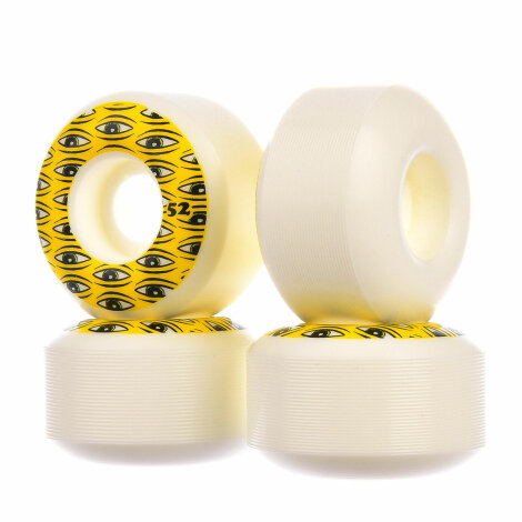 Toy-Machine Skateboard Rollen All Seeing 52mm/100A white-yellow