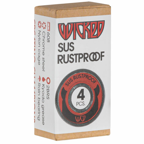 WCD Wicked SUS Rustproof Kugellager (4er-Pack, rostfrei)