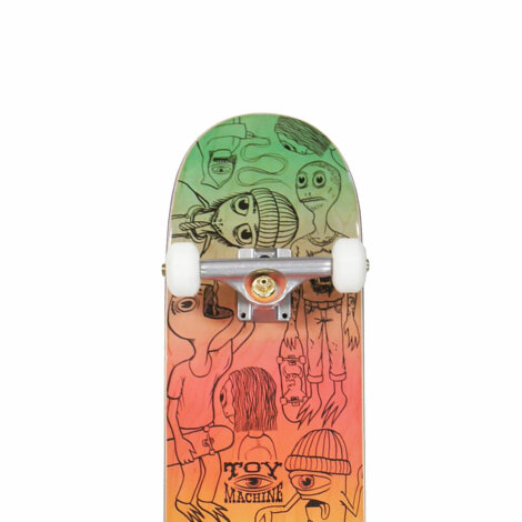 Skateboard Toy-Machine Characters multicolored 8