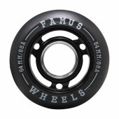 Famus Inline Aggressive Skate Rolle 64mm/90a all black