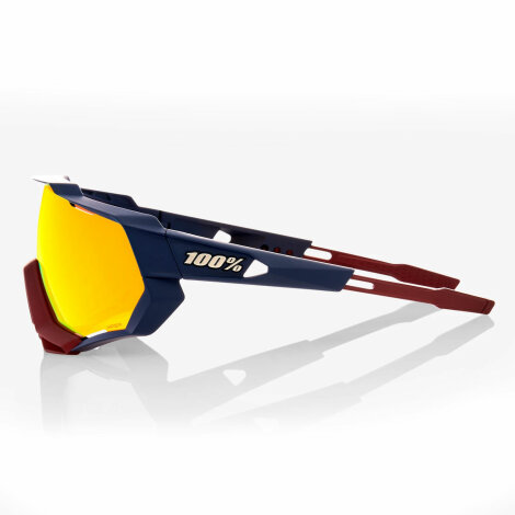 100% Speedtrap Sonnenbrille HD Multilayer Lense (Soft Tact Flume/Red Mirror HiPER)